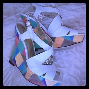 Adrianna Papell color block wedges